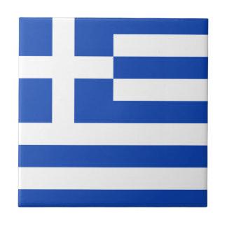 Greece Flag Ceramic Tile