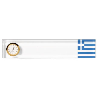 Greece Flag Desk Name Plates