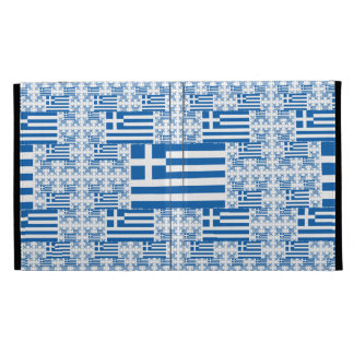 Greece Flag in Multiple Colorful Layers iPad Folio Case