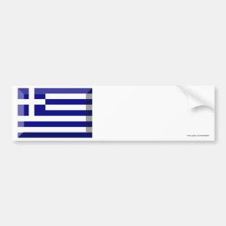 Greece Flag Jewel Bumper Stickers