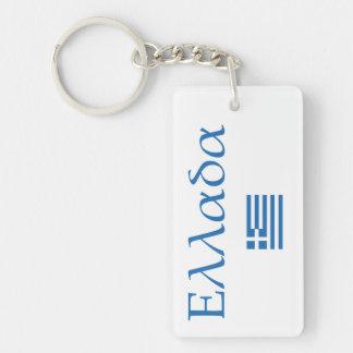 Greece + Flag Keychains