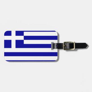 Greece flag luggage tag