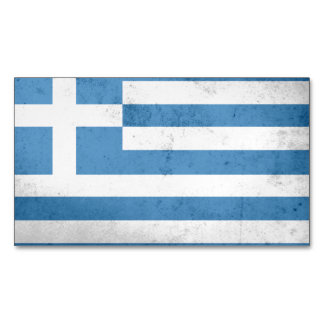 Greece Flag Magnetic Business Cards