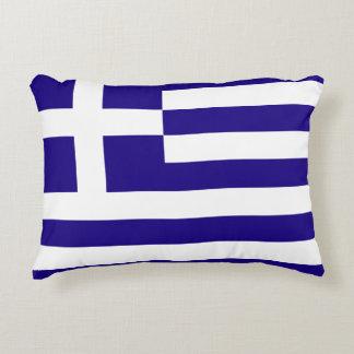 Greece Flag Accent Pillow