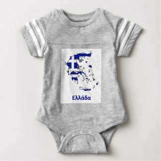 GREECE FLAG MAP BABY BODYSUIT