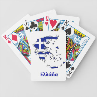 GREECE FLAG MAP BICYCLE PLAYING CARDS