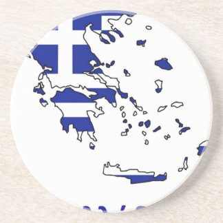 GREECE FLAG MAP COASTER
