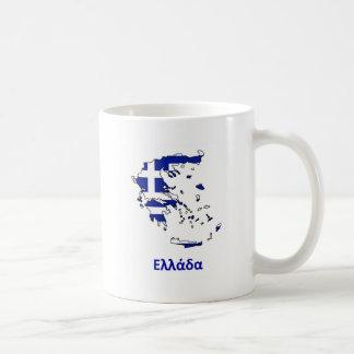 GREECE FLAG MAP COFFEE MUG