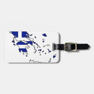 GREECE FLAG MAP LUGGAGE TAG