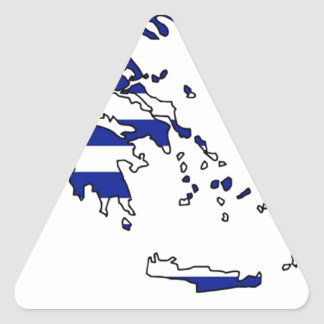 GREECE FLAG MAP TRIANGLE STICKER