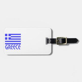 Greece Flag Name Travel Bag Tag