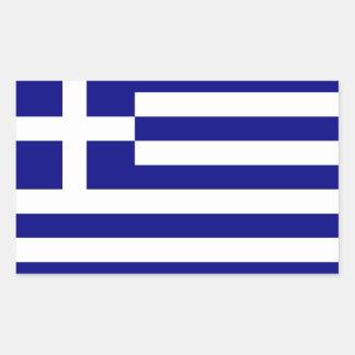 Greece Flag Rectangular Sticker