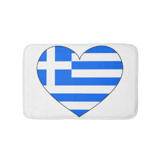 Greece Flag Simple Bath Mats