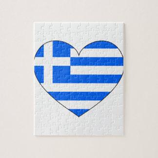 Greece Flag Simple Jigsaw Puzzle