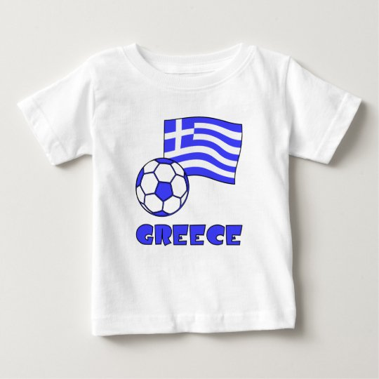 Greece Flag Soccer Ball Baby T-Shirt