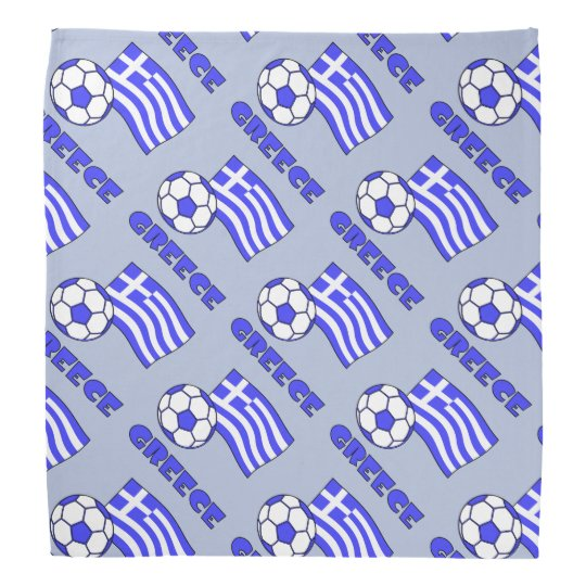 Greece Flag Soccer Ball Bandana