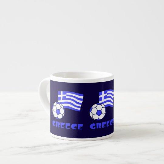Greece Flag Soccer Ball Espresso Cup