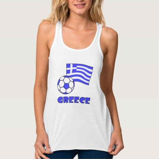 Greece Flag Soccer Ball Singlet