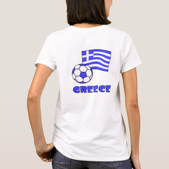 Greece Flag Soccer Ball T-Shirt