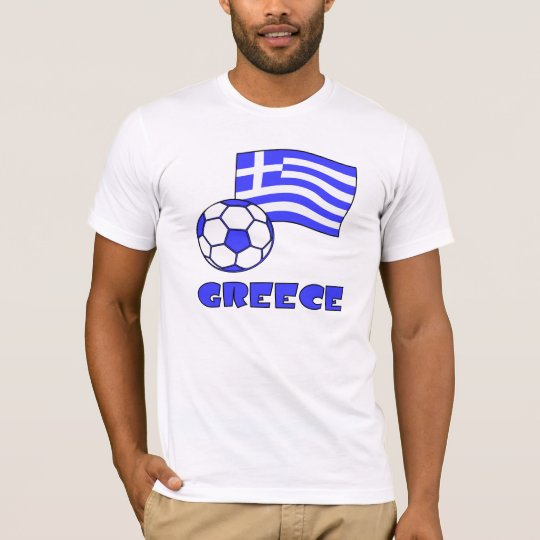 Greece Flag Soccer Ball T-Shirt