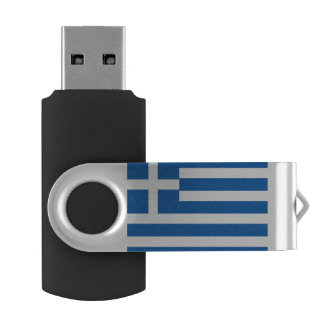 Greece Flag USB Flash Drive