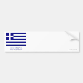 Greece Flag with Name Bumper Sticker