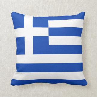 Greece Flag x Flag Pillow