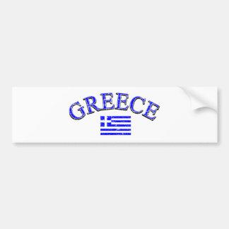Greece football design bumper sticker