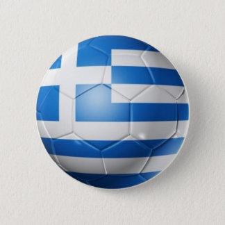 GREECE FOOTBALL FLAG 6 CM ROUND BADGE