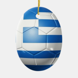 GREECE FOOTBALL FLAG CERAMIC ORNAMENT