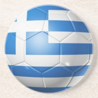 GREECE FOOTBALL FLAG COASTER