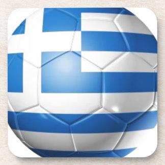 GREECE FOOTBALL FLAG COASTER