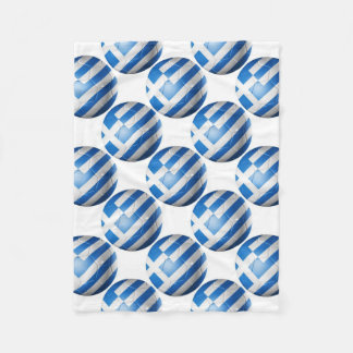GREECE FOOTBALL FLAG FLEECE BLANKET