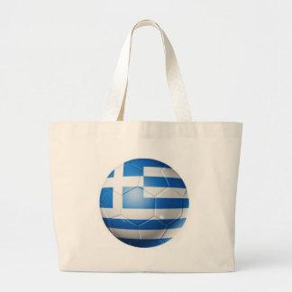 GREECE FOOTBALL FLAG LARGE TOTE BAG