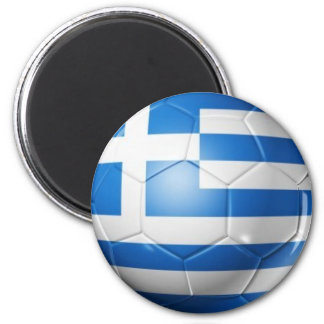 GREECE FOOTBALL FLAG MAGNET