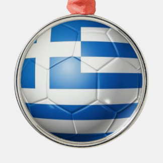 GREECE FOOTBALL FLAG METAL ORNAMENT