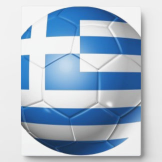 GREECE FOOTBALL FLAG PLAQUE
