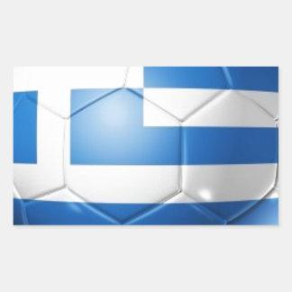 GREECE FOOTBALL FLAG RECTANGULAR STICKER