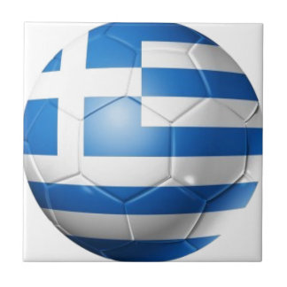 GREECE FOOTBALL FLAG SMALL SQUARE TILE