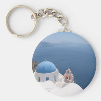 Greece Forever Basic Round Button Key Ring