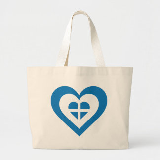 Greece Heart Tote Bags