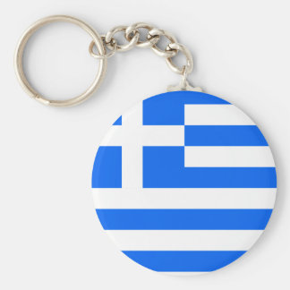 Greece High quality Flag Basic Round Button Key Ring