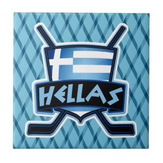 Greece Ice Hockey Flag Logo Tile