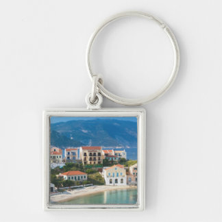 GREECE, Ionian Islands, KEFALONIA, Assos: 2 Silver-Colored Square Key Ring