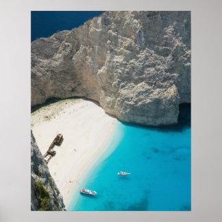 GREECE, Ionian Islands, ZAKYNTHOS, SHIPWRECK Poster
