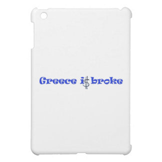 Greece is broke cover for the iPad mini