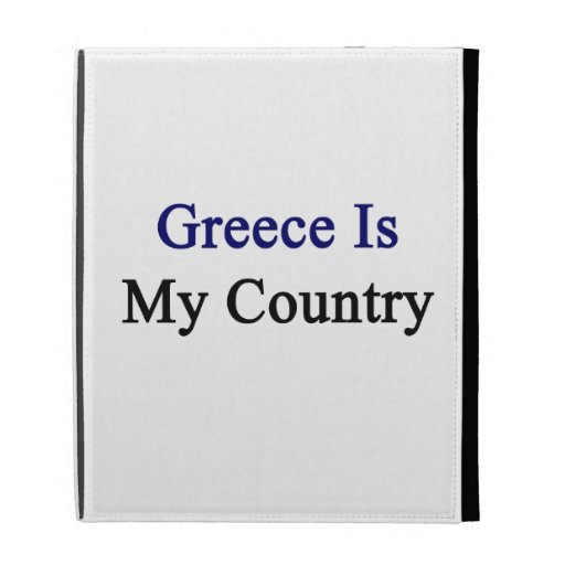 Greece Is My Country iPad Folio Case