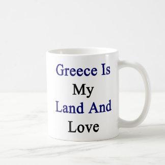 Greece Is My Land And Love Coffee Mug