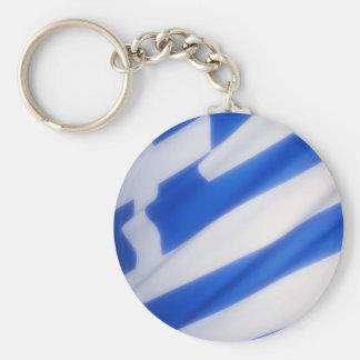 Greece Key Ring Basic Round Button Key Ring