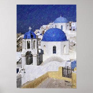 Greece Landscape Poster Print